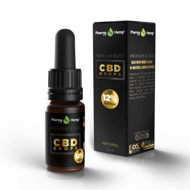 Premium Black CBD Oil Drop 12%